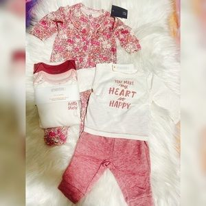 5 NWT pieces for baby girls 0-3M & 3-6M